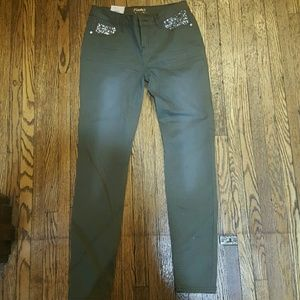 Candies olive green size 3-juniors jeans